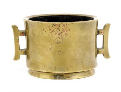 Lot 114 - A Chinese bronze censer