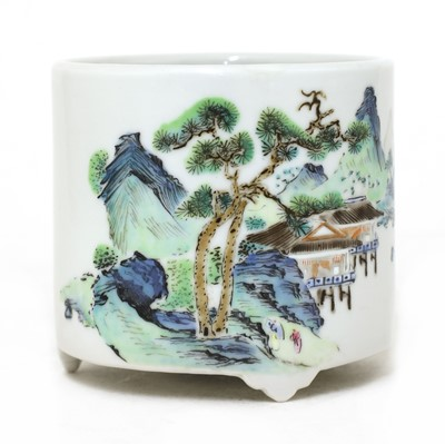 Lot 31 - A Chinese famille rose censer
