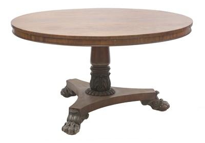 Lot 116 - A late Regency mahogany pedestal table