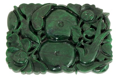 Lot 102 - A Chinese nephrite jade plaque