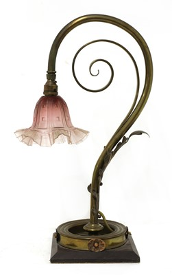 Lot 47 - A brass table lamp
