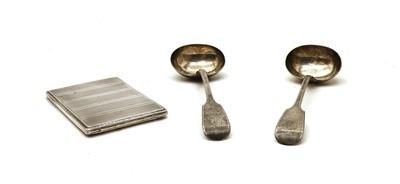 Lot 52 - A silver cigarette case