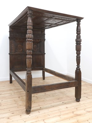 Lot 420 - A Charles I oak tester bed