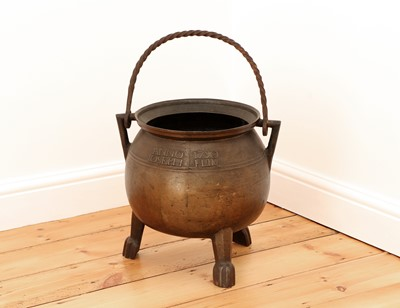 Lot 409 - A French leaded bronze cauldron
