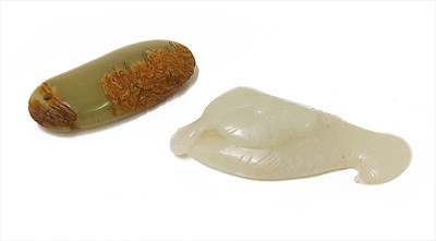 Lot 111 - A Chinese jade pendant