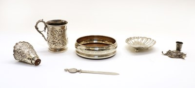 Lot 51 - A small collection of silver items