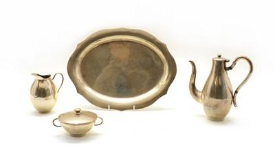 Lot 42 - A Continental silver tea set