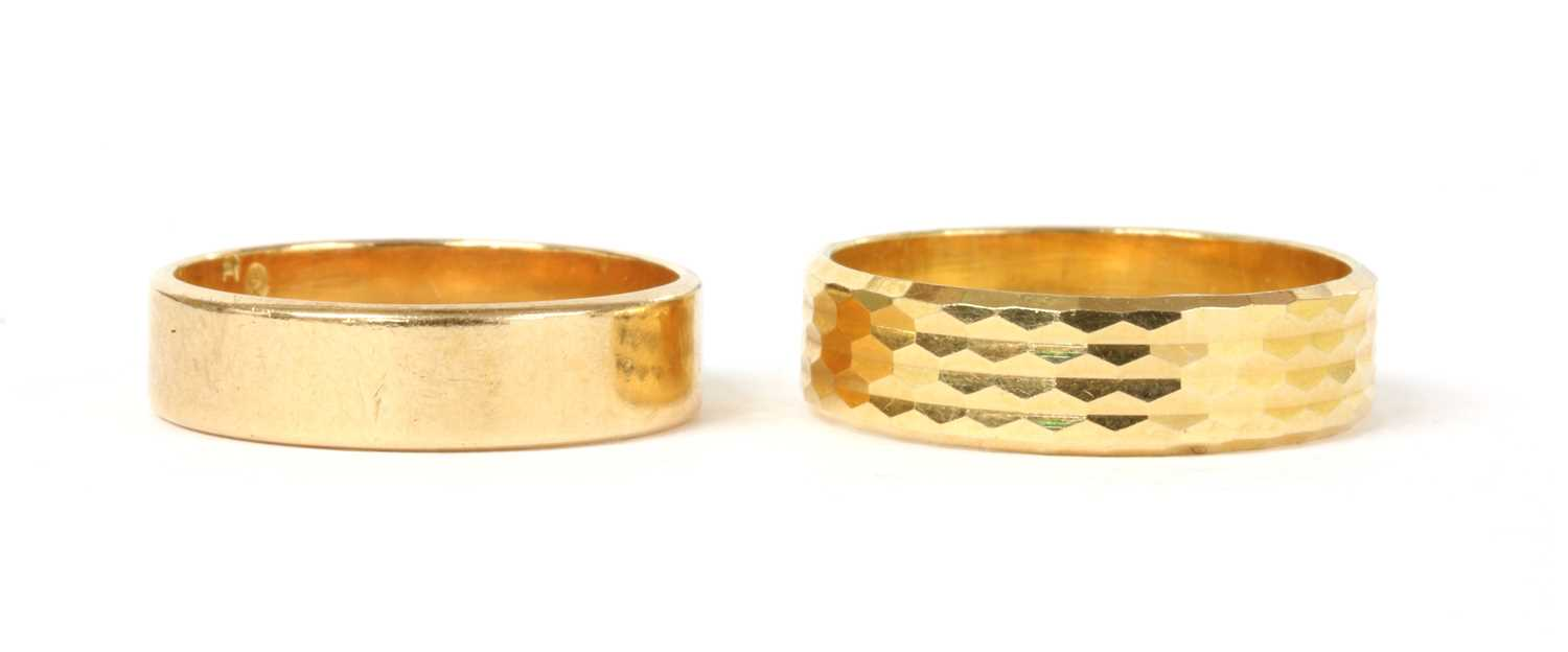 Lot 58 - Two Portuguese gold wedding rings