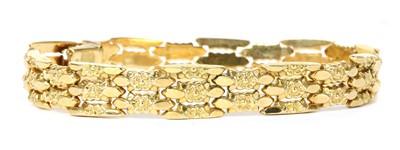 Lot 76 - An Italian gold bracelet by Fomp, c.1950