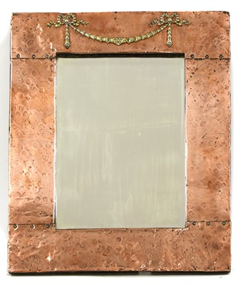 Lot 50 - An Arts and Crafts copper mirror