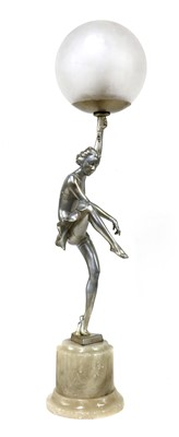 Lot 101 - A figural table lamp