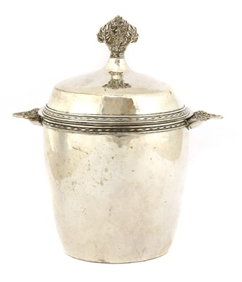 Lot 54 - An Arts and Crafts silver-plated tea caddy