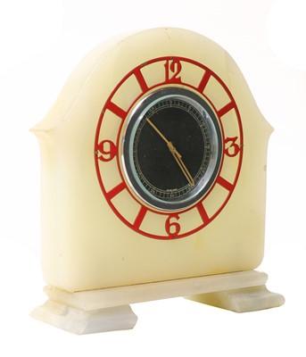 Lot 635 - A Jaeger LeCoultre Art Deco mantel clock