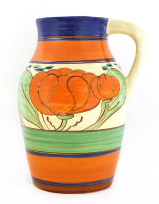 Lot 99 - A Clarice Cliff 'Lily' Lotus jug