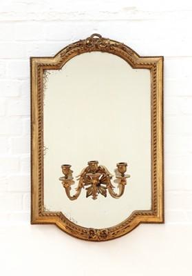 Lot 142 - A French Louis XVI-style giltwood framed girandole