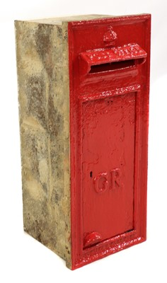 Lot 351 - A George VI wall-mounted postbox