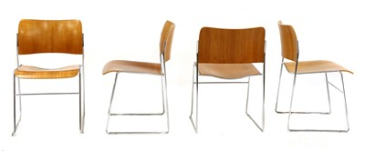 Lot 350 - A set of six modern stacking chairs