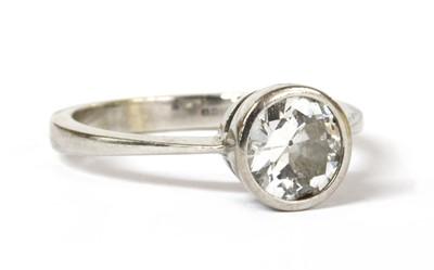 Lot 39 - An 18ct white gold single stone diamond ring