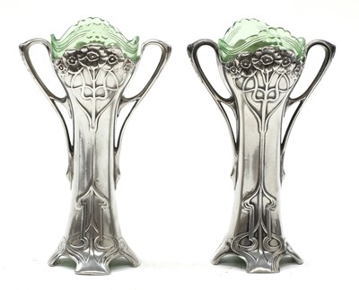 Lot 3 - A pair of WMF silver-plated vases