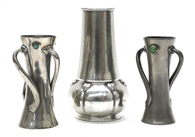 Lot 34 - A Liberty & Co. Tudric pewter vase