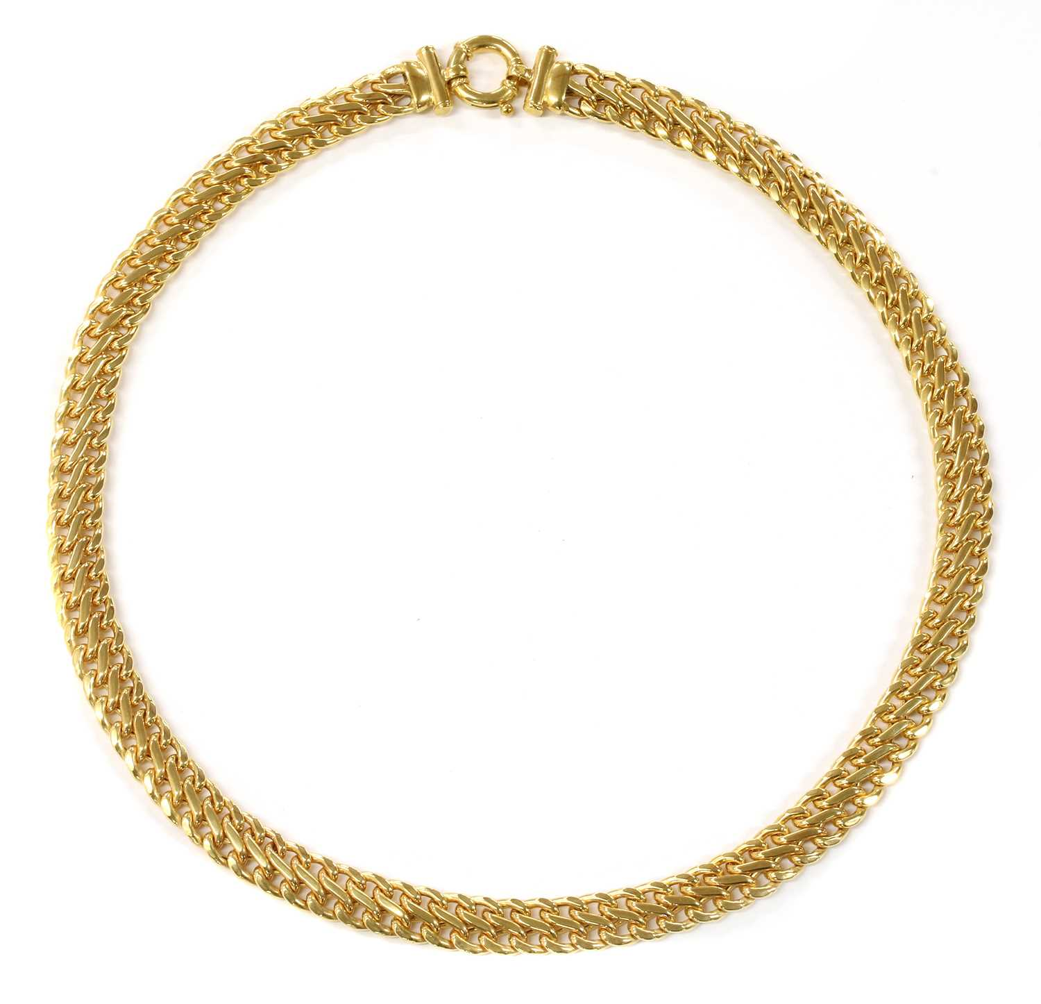 Lot 68 - A 9ct hollow figure of eight link necklace