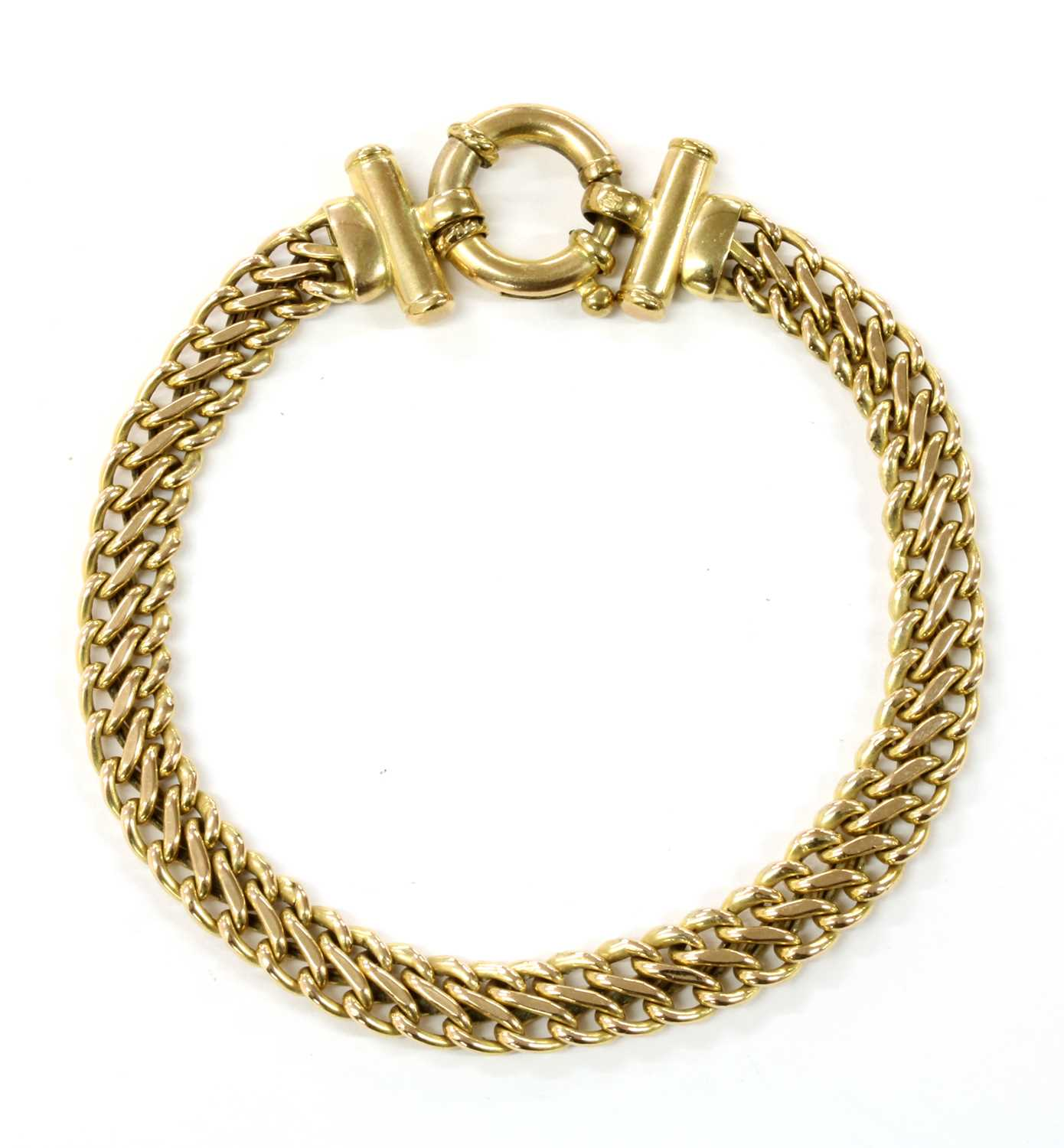 Lot 69 - A 9ct gold hollow figure of eight link bracelet