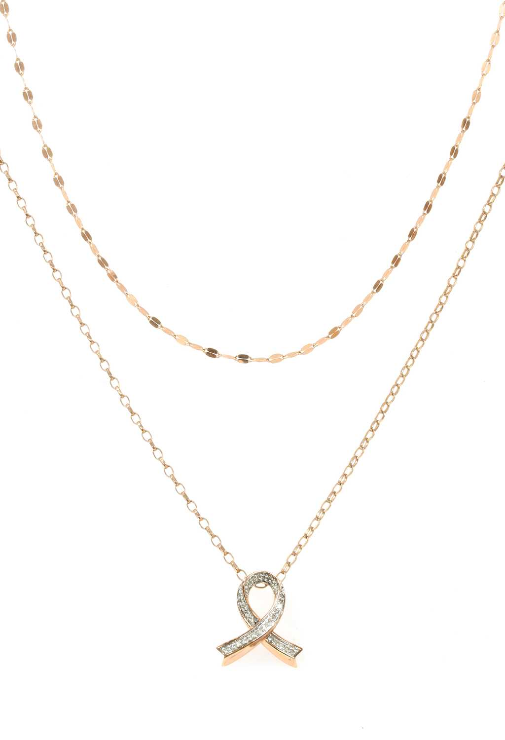 Lot 73 - An 18ct rose gold chain