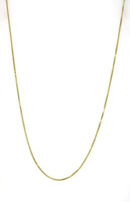 Lot 63 - An 18ct gold spiga chain