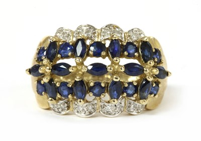 Lot 167 - A 9ct gold sapphire and diamond ring