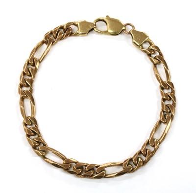 Lot 83 - A 9ct gold figaro link bracelet