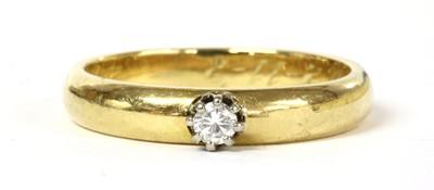 Lot 93 - A gold single stone diamond ring