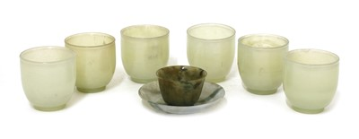 Lot 94 - A Chinese jade cup