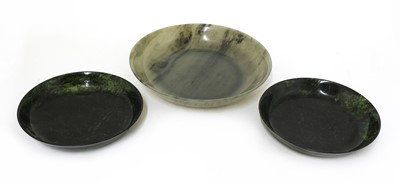 Lot 95 - A Chinese jade plate