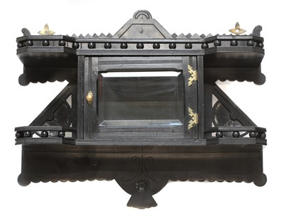 Lot 23 - An Aesthetic ebonised wall cabinet