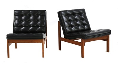 Lot 528 - A pair of Danish teak 'Moduline' lounge chairs