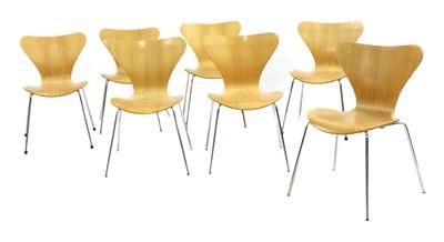 Lot 533 - A set of seven Fritz Hansen 'Model 3107' chairs