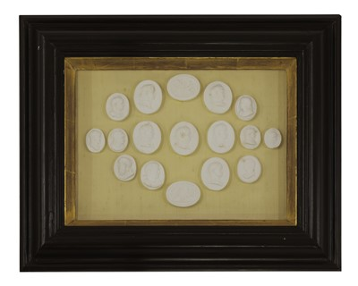 Lot 474 - A collection of fifty-five grand tour plaster intaglios