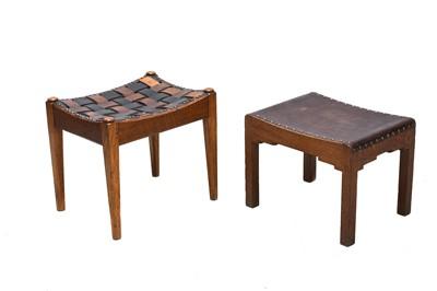 Lot 65 - An Arts and Crafts oak stool