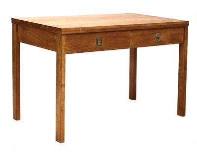Lot 358 - A teak fold-over side table