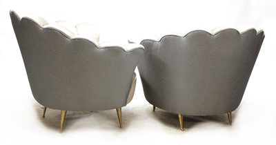 Lot 602 - A pair of Italian shell-shaped lounge chairs