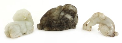 Lot 70 - A Chinese white jade camel
