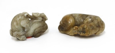 Lot 73 - A Chinese jade carving