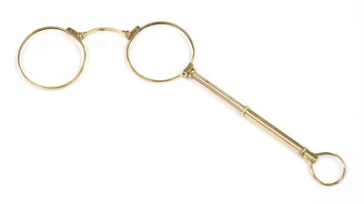 Lot 122 - A pair of gold lorgnettes