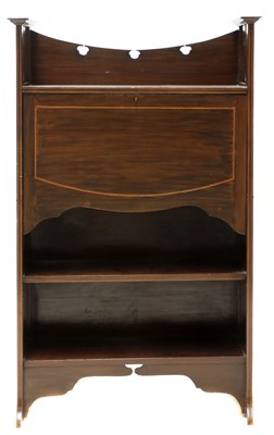 Lot 77 - An Art Nouveau mahogany inlaid bureau