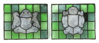 Lot 185 - Two stained glass panels