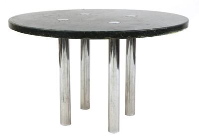 Lot 364 - A brutalist circular centre table