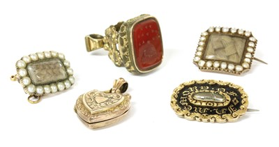 Lot 30 - A quantity of Georgian and Victorian jewellery