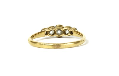 Lot 10 - A gold five stone diamond ring