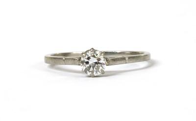 Lot 109 - A platinum single stone diamond ring