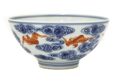 Lot 50 - A Chinese iron-red and blue bowl